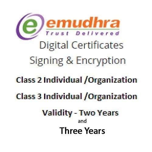 e-mudhra Class 3 Digital Certificate