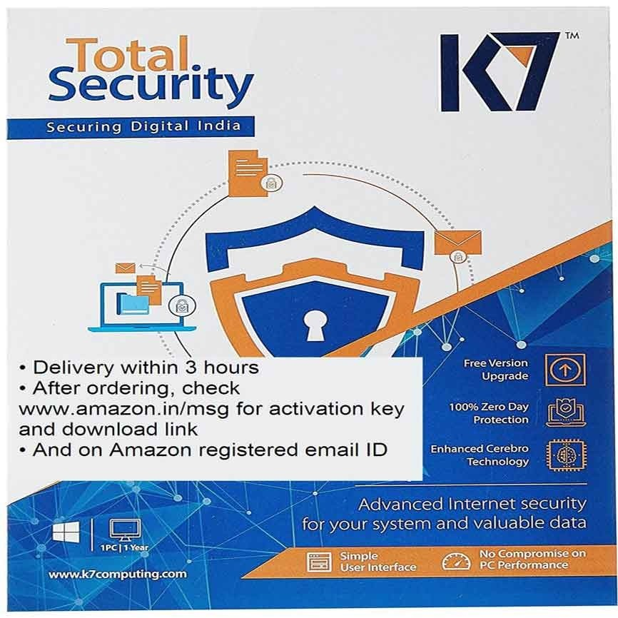 K7 Total Security - 1 PC, 1 Year (Email Delivery in 2 hours - No CD)